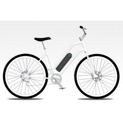 UNITED CRUISER e-Life Confort Blanc +porte bagage + support smatphone