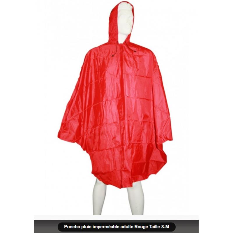 Poncho de pluie rouge