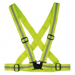 Harnais fluorescent ajustable jaune